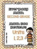 Everyday Math: Second Grade Math Box Reviews (Units 1, 2, and 3)