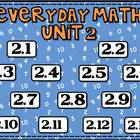Everyday Math Unit 2 lesson pack