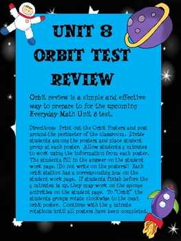 Everyday Math Unit 8 Test Orbit Review Grade 3