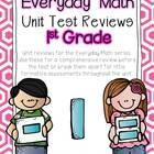 Everyday Math Unit Test Reviews- First Grade