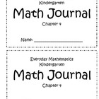 Everyday Mathematics Chapter 4 Kindergarten Journal