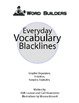 Everyday Vocabulary Blacklines