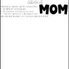Everything About Mom Mother's Day Book