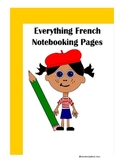 Everything French Notebooking Pages