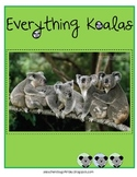 Everything Koalas - Math and Literacy Skills for k-3 & aus