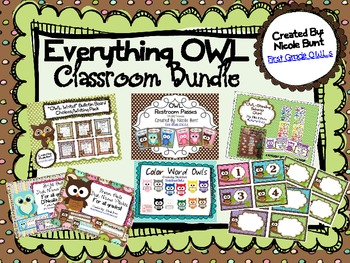 Everything OWL Classroom Bundle