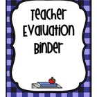 Evidence Binder using Kim Marshal's rubrics