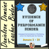 Evidence of Performance Binder (Chalkboard Theme)