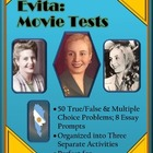 Evita Movie -- 50 Questions -- Word and Examview Formats