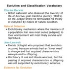 Evolution and Classification Unit Vocabulary Lesson Plan