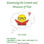 Examining the Content and Structure of Text Guide