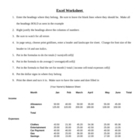 Excel Worksheet Budget