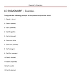 Exercices sur le subjonctif