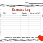 Exercise Log for Students