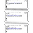Exit Ticket Template (Editable PDF Form)