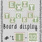 Exit Tickets Bulletin Board with Coordinating Colors
