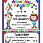 Expanded Form:  Tens and Ones Only ( Clown Theme)