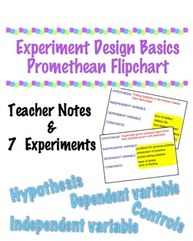 Experiment Design Flipchart - Great Intro for Science Fair!