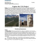 Explore the USA Project (interdisciplinary unit)