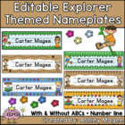 Explorer Themed Nameplate/Deskplate/Nametags