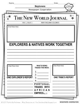 Explorers Unit Resources and Activities- 13 pages