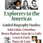 Explorers to America - Guided Biography Study Set of 6