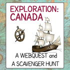 Explorers to Canada - Webquest Scavenger Hunt Activities