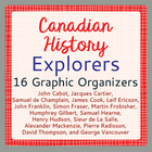 Explorers to Canada - 15 Graphic Organizers