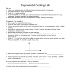 Exponential Cooling Lab with CBL