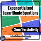 Exponential and Logarithmic Function Sum Em Activity