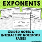 Exponents Activities and Guided Notes Aligned with CCS 6.E
