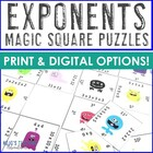 Exponents Magic Square Puzzle