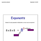 Exponents for the smartboard