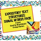 Expository Text Structures Signal Words Card Pack: Word Wa