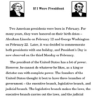 Expository Writing - If I Were President Essay