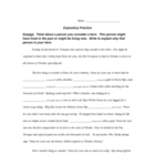 Expository Writing Practice - Cloze