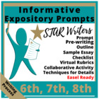 Expository Writing Prompts Grade 6-8 STAAR and CC aligned