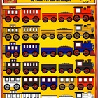 Train Clip art: Engine, Cars, Engineer and Conductor
