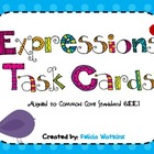 Expressions with Exponents Task Cards and Recording Sheets