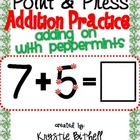 Extra Large: Addition Practice Adding On Press and Point w