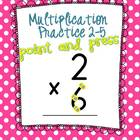 Extra Large: Point and Press Multiplication Single Digit-