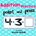 Extra Large: Single Digit Addition Practice with Touch Points 1-9