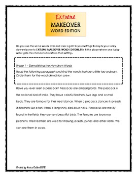 Extreme Makeover Word Edition - Writing and Word Workshop