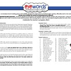 Eyewords Multisensory Activity Sheet