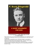 F. Scott Fitzgerald - A Short Illustrated Biography