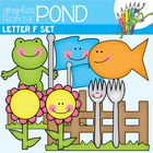 F Set Clipart for Phonics and Alphabet
