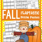 FALL Flip Flap Puzzle Pastes - Cut Paste Worksheets