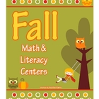 FALL Theme Math & Literacy Center Games