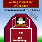 FARM ANIMAL BABIES WRITING JOURNAL WITH PICTURE DOLCH SIGH