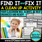 FIND IT &amp; FIX IT: CLASSROOM MANAGEMENT GAME {BLACKLINE DES